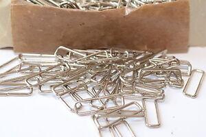 Trapez-Vierkant-Rechteck-Ring Schlaufe für Gurtband bis 30 mm, Silber, Eisen