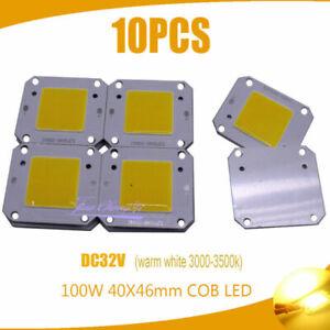 100W COB LED 40x46mm warm whtie LED Chip Source for Flood Light 32V-36V 10PCS