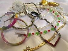 Vintage Coro Spikes Crystal Rhinestone .925 Stainless Plastics Jewelry Lot 12 pc