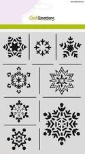 Craft Emotions A5 Máscara Plantilla Hielo CRISTALES A5 Navidad NATURALEZA