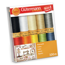 Gutermann 'Basic & Bright' Cotton C No 50 Thread Set Pack of 10