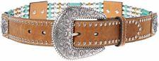 Nocona Belt Co. Women's Stranded Bead Belt-Brown-Small