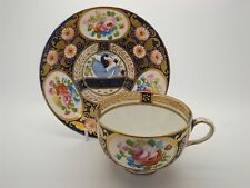 A SUPERB VERY RARE SWANSEA IMARI BUTE SHAPE CUP AND SAUCER. PATTERN 219. C.1817