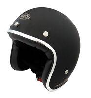 Casque casco helmet jet TORX WYATT noir mat Taille XL 61 62 VINTAGE VESPA