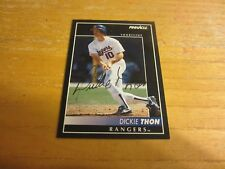 Dickie Thon Autographed Signed 1992 Pinnacle #394 Trading Card MLB Texas Rangers