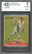 Flint Rhem Rookie Card 1933 Goudey #136 Phillies (Vg Or Better) BGS BCCG 7