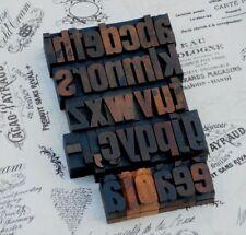 "a-z alphabet 1.42"" letterpress wooden printing blocks wood type Vintage printer~"