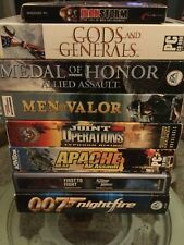 PC Shooter 8 PACK Gods And Generals Medal of Honor Bond Valor Apache Iron Storm