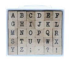 Inkadinkado Typewriter Script Upper Case Alphabet ABC Wooden Rubber Stamp