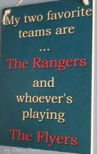 New York Islanders Versus The Philadelphia Flyers Hockey Sign - Bar Sports Signs