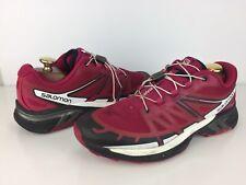 Salomon Women's Wings Pro 2 Trail Running Shoe Size 9.5 Sangria/Black/White