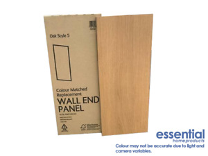 B&Q Oak Style Replacement Kitchen End Panel 290mm (W) x 720mm (H) - 6202