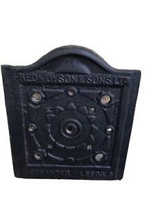 Antique Cast Iron COAL HOUSE Door Fred Dyson & Sons, Steander Leeds.