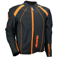 Spada Plaza Textile Waterproof Motorcycle Textile Jacket Black/KTM Orange