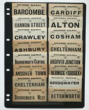 More details for southern r luggage labels, barcombe cardiff alton ashbury berwick cannon [19417]