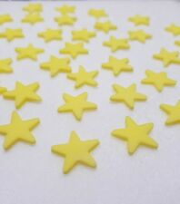 X50 yellow stars cake toppers edible cupcake decorations wedding birthday