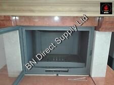 Fireplace Insert Inset Wood Burning Cast Iron Stove Built In 13 -20 kw Bordeaux