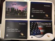 2010 2011 2012 2013 US Mint Set Philadelphia Carteras