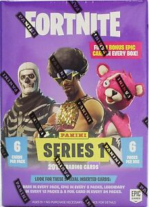 Fortnite Series 1 Trading Cards Blaster Box Panini 2019 with One Bonus Epic Card