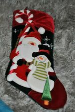 Christmas Stocking High end Santa Snowman Candycane Seasonal Christmas Stockings