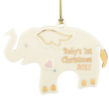 Lenox 2017 Baby's First Christmas Elephant Ornament