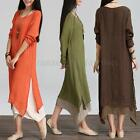 Zanzea Women's Casual Loose Shirt Dress Plus Size Summer Shirt Long Maxi Dress