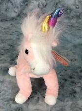 TY Beanie Baby Charmer The Pink Unicorn Stuffed Animal Toy Retired 2002 MWMTs
