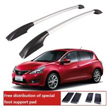 Roof Rack Aluminum for Nissan TIIDA 2006-2019 baggage luggage roof rack bar rail