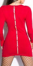 Neu Sweater Strick Kleid Minikleid Strickkleid Schleife Strass Pullover ! 8167