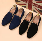 New Men's Stylish Swede Leather Shoes Casual Formal Dress Slip On Pointed Loafer