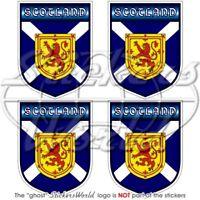 """SCOTLAND Scottish Shield UK British 50mm (2"""") Bumper-Helmet Stickers Decals x4"""