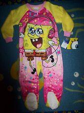 Spongebob Squarepants Blanket Sleeper Girls Sleepwear 1pc 4Toddler Winter