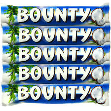 5 x BOUNTY COCONUT CHOCOLATE BARS 57g 2oz