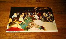 Gambling In Las Vegas The Fast Action Game Of Dice Craps unused gambler Postcard