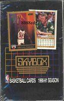 1990-91 SKYBOX SERIES 1 NBA SEALED BOX: MICHAEL JORDAN GEM MINT ? PAYTON/KEMP RC