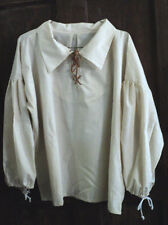 RENAISSANCE MEN'S  MUSLIN SHIRT PEASANT/PIRATE SCA  COSPLAY ONE SIZE