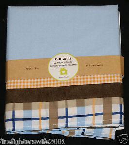 Carter's Street Fleet Window Valance blue brown 60x14 new