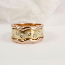 Ringe mit Diamant solitäre Diamanten aus mehrfarbigem Gold