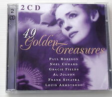 49 GOLDEN TREASURES . PAUL ROBERSSON,NOEL COWARD,GRACIE FIELDS,AL JOLSON . 2 CD