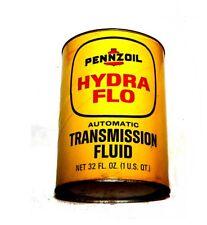 Vintage Pennzoil Transmission Fluid Motor Oil Can Hydroflo Ex Sign Beer Tin Ofr