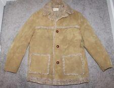 VINTAGE Fingerhut Fashions Faux Sherpa Barn Jacket Brown Size 40 Work Coat 70s