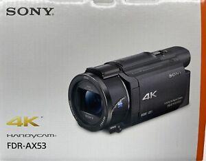 NEW Sony Handycam AX53 4K Flash Memory Premium Camcorder - Black FDRAX53/B