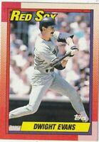 FREE SHIPPING-MINT-1990 Topps #375 Dwight Evans Boston Red Sox PLUS BONUS CARDS