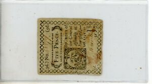OCTOBER 11, 1777 5p FIVE PENCE CONNECTICUT COLONIAL CURRENCY NOTE