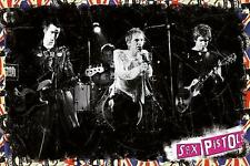 "SEX PISTOLS POSTER ""LIVE ON STAGE"""