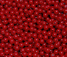 Red 6mm Round Acrylic Beads 500pc for crafts jewelry necklace bracelet