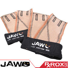 JAW Pullup Gloves | Black | CrossFit Palm Protectors Hand Guard Grips Gym Gloves