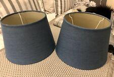 Laura Ashley x 2 Denim Blue Lampshades 12 inches