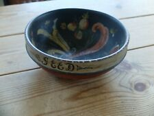 More details for hand-painted  norwegian folk art wooden bowl. made by ulf alvin larssen 1945