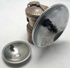Vintage Auto-Lite Carbide Miner Caver Lamp w/ Flat Helmet Mount Extra Reflector